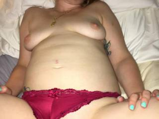 After being fucked in both holes and everything else you can think of for three hours, I was exhausted but happy.  When hubby came back to the hotel, this is how he found me.  Of course, I got fucked again.  I had so much cum in me.