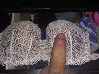 Bigg Bra\'s got me hella Hard! I dripped some pre cumm on them! 😁😜👍