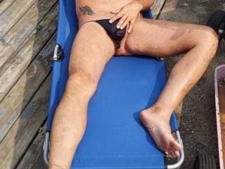 miss tanning outdoors