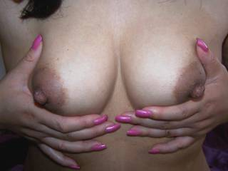 I'd rub my cock between your tits and let you lick the tip. Then you could suck my rock hard cock until I come the biggest load I've ever blown