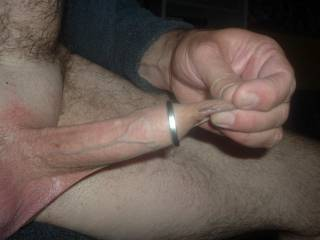 first ring onto my cock