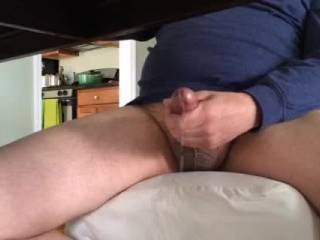 watching a vid that I have posted here where i watched my gf fuck a friend of mine. So hot.