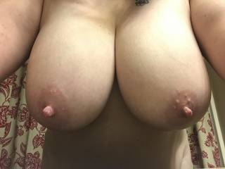 Anyone interested in giving my tits some attention?