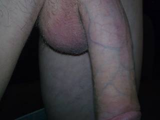Newly shaved and a beautiful, big,thick,long vanilla cock ;-)