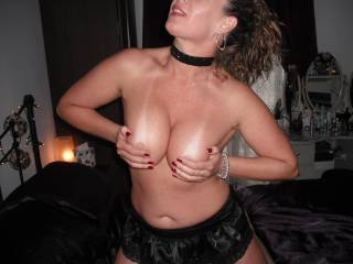 Oh wow what a set of tits!!! Suckable...