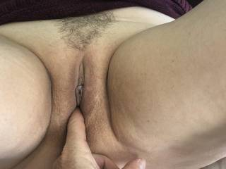 It's so hot fingering a pussy full of cum.  Want to add some?