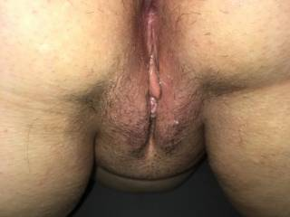 Mrs. Truck 89 showing her hot wet, freshly made love to pussy, dripping with cum from our morning session. We would love to play with others. We have come to the conclusion that we are a Stag and Vixen couple. Seeking new playmates and hot stories.