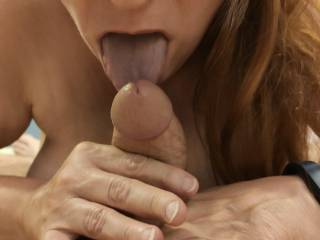 What a delicious cock! I can never get enough in my mouth.