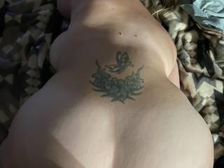 I love her big ass slapping against my cock as I fuck her deep and hard.