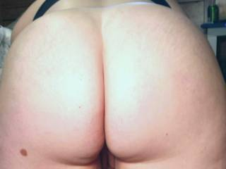 For ALL my Butt Fans here's another view with it Bare just the way you like it. ENJOY