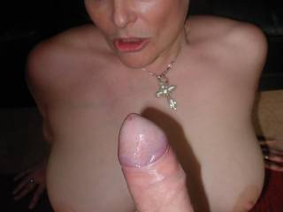 She loved looking at his bog cock
