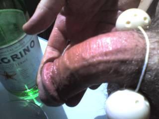 hi I have my fiances duo balls round my moist cock