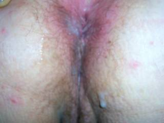Heres my load on her ass,show us yours on her ass and post please,give it your best shot