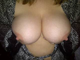 wife\'s nice big soft tits, a joy to play with