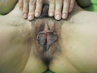 WOW! Amazing pussy! I love your delicious,hairy pussy! I wanna bury my face in it for a few hours,licking and sucking you to endless orgasms May I?