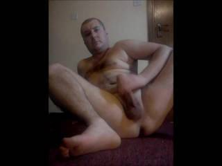 Loved  watching you jerk off that big beautiful cock and you big hairy masculine  body makes me hard too!!!