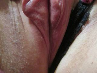 It\'s all wet and ready for your tongue, Lick it for me Baby? Please? *Xo