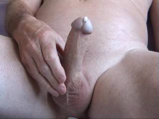 fantastic, a perfect escape of creamy cum, would so love to work that glans to fully empty your full balls...
