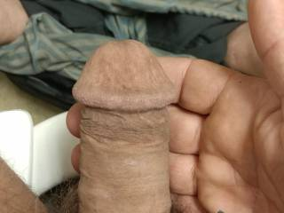 My limp cock in the cold he is hungry