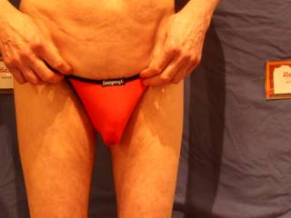 Even though I am flaccid these undies are perhaps revealing a little too much !!