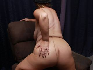 My bbw ass in pantyhose. If you\'d like to peel them down and bend me over more mmmm…… the chair will tip over in to the curtains, yanking them off their tracks, revealing to the neighbors a thrashing, near naked chick trying to extract herself from th