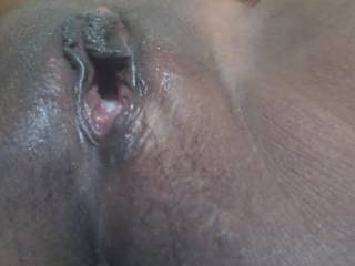 my wife creampie masturbating with a a bottle head deep  inside her pussy