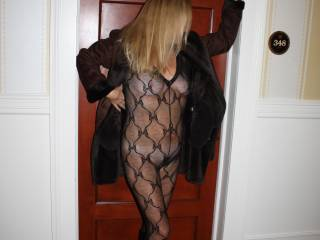 Leaving my hotel room for a daring night.  Turned 50 this year.  Hubby thinks I still look great but I think I am over the hill.  He convinced me to post pictures of myself for the very first time to get comments from the guys.  What do you think, should