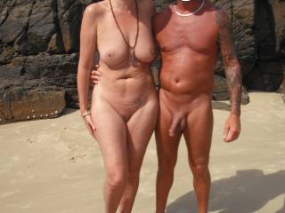 oooh you have a wonderful body. id show you my cock at the local nude beach too