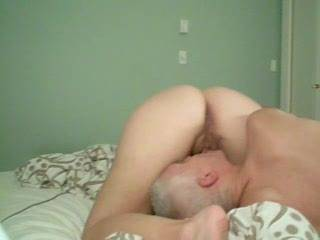 More licking as requested -- this time with a better view. I love to sit on his face and enjoy his tongue