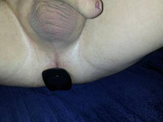 the large plug fully in....some stretch!  wanna suck it hard?