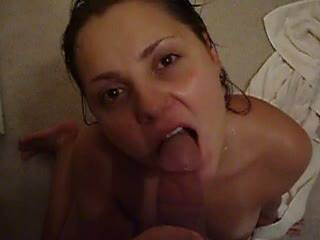 Slut wife from pcola doin what she loves... she wants more cock than she knows what to do with! Cant u see how happy she is :)