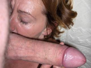 Licking his balls before i take it deep in my pussie