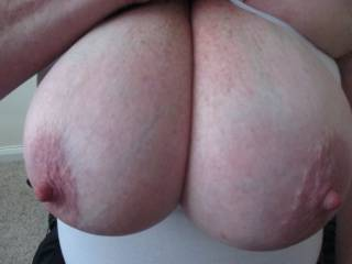 As requested a close up of my tits so you can do what you want with them, post the results back