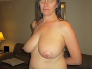Hubby loves me having my tits uncovered