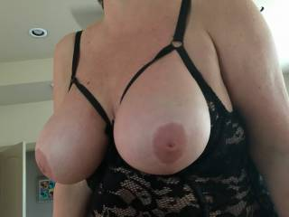 My Wife's Fabulous Tits.  She was nervous at first about taking pictures but now she's really into photo shoots.
