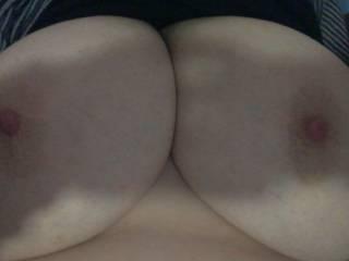 Selfie of my huge boobies!!!!