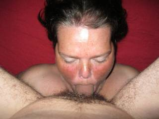 Mmmmm, love seeing her swallow your cock!!!