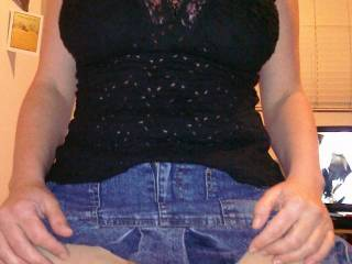 Always liked denim skirts, particularly when a body that hot is the only things underneath