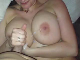 cum on my big boobs