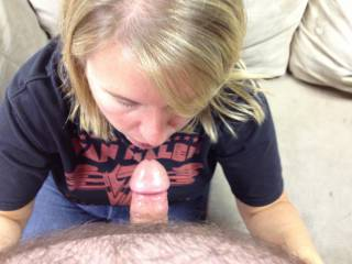 more of val sucking my dick in the garage