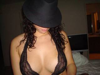 New outfit for the night.... Love the hat.... How about you?