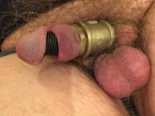 Cock with metal and rubber rings
