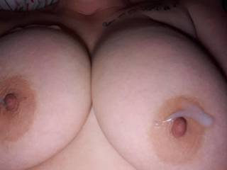 This is for all the men who wants to cum on my wife\'s big beautiful breasts...she needs to be cleaned up now!!