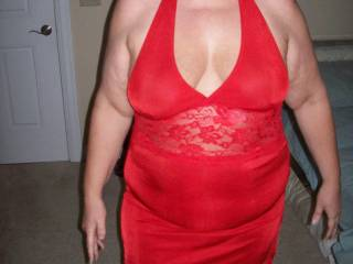 Doesn\'t Mrs Daytonohfun look fuckable in her red outfit?  I fucked her for her hubby when he was out town