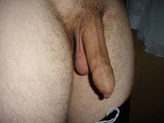 i love this pic! mmm i want to nibble on that foreskin and lick/suck those hanging balls!!!