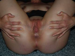 The wife would love a cock in her ass and I would love to watch it as she sucks on my cock!!! Would you join us?