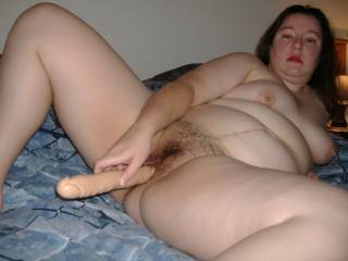 Your wife is such a sexy slut, love her tits and hairy pussy and her sexy big belly is a massive turn on !