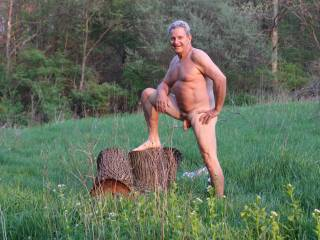 Not gay but love the pose,I gotta try that one,love the outdoors myself!