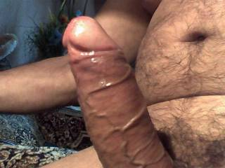 very beautiful big fat cock! i like it when a cock is shiny!