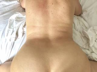 Bend over feeling his cock deep in me , he cum faster because the view , do you agree?